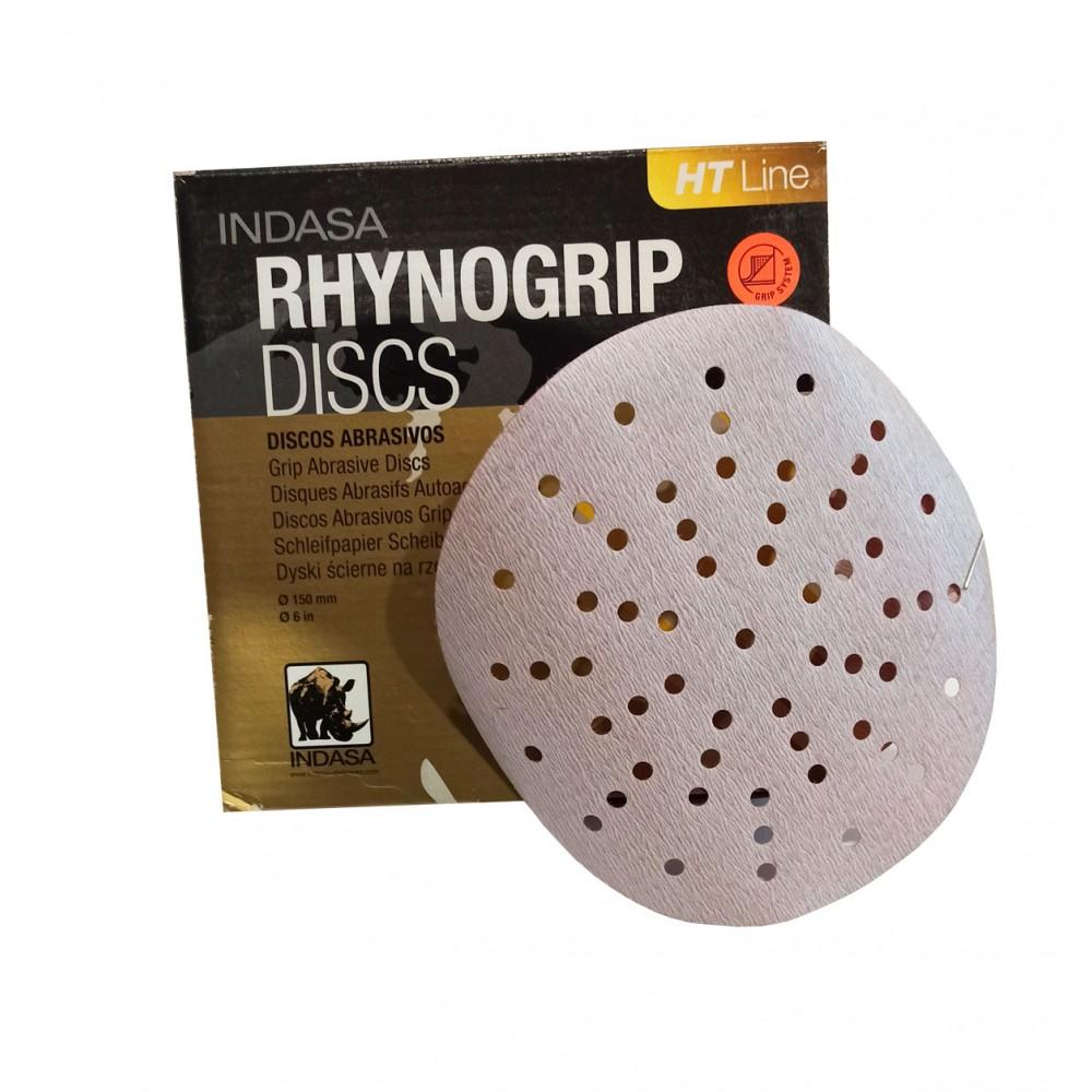 Абразивні диски INDASA RHYNOGRIP HP LINE ULTRAVENT на 57 отверстий ( 150мм), Р 1000