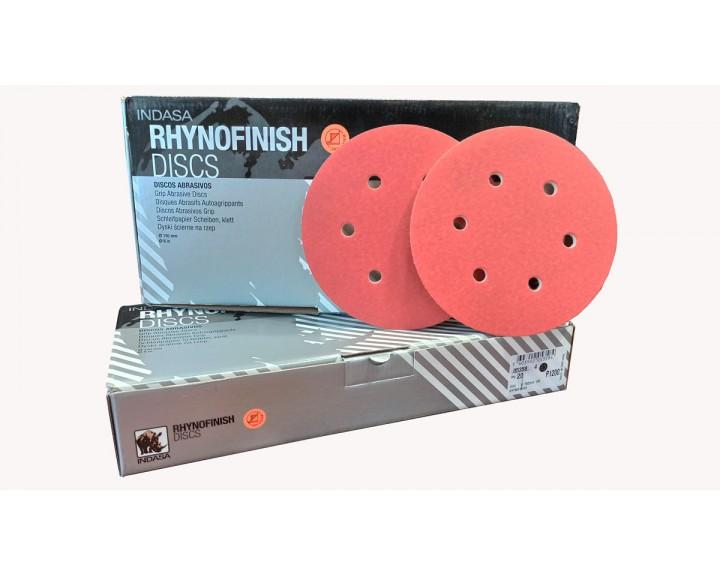 Абразивні диски INDASA RHYNOFINISH на 6 отворів ( 150мм), Р 1200
