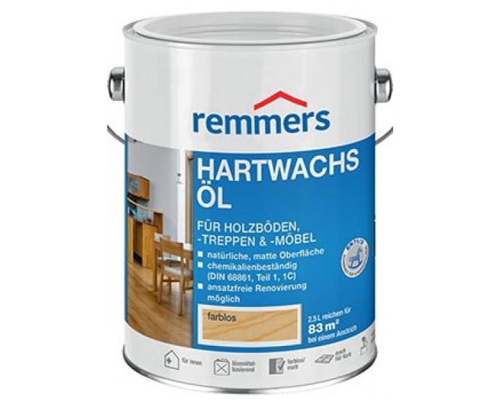 Декоративно-захисне масло для меблів з масиву, панелей, паркету, сходів  REMMERS Hartwachs-Öl (Безколірне)