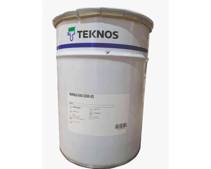 Укривна  водорозчинна фарба, на основі акрилату , для зовнішніх дерев'яних конструкцій NORDIСA EKO 3330-03 ( База 1)