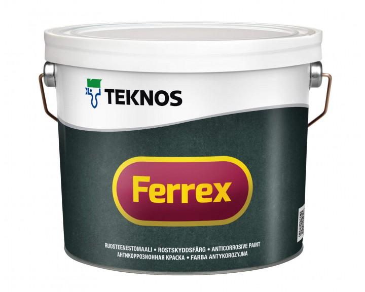 Фарба антикорозійна для виробів зі сталі та легкого металу TEKNOS Ferrex (сіра), 10 л