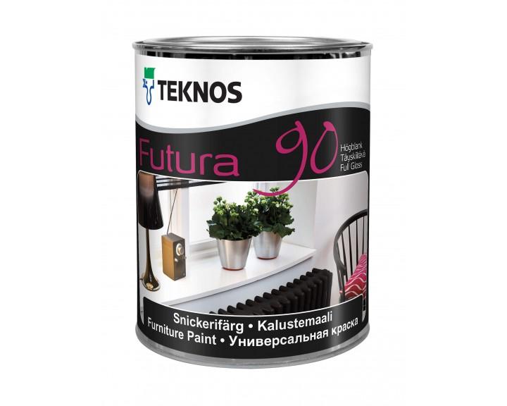Глянцева універсальна фарба TEKNOS Futura 90 (База 3), 0.9 л