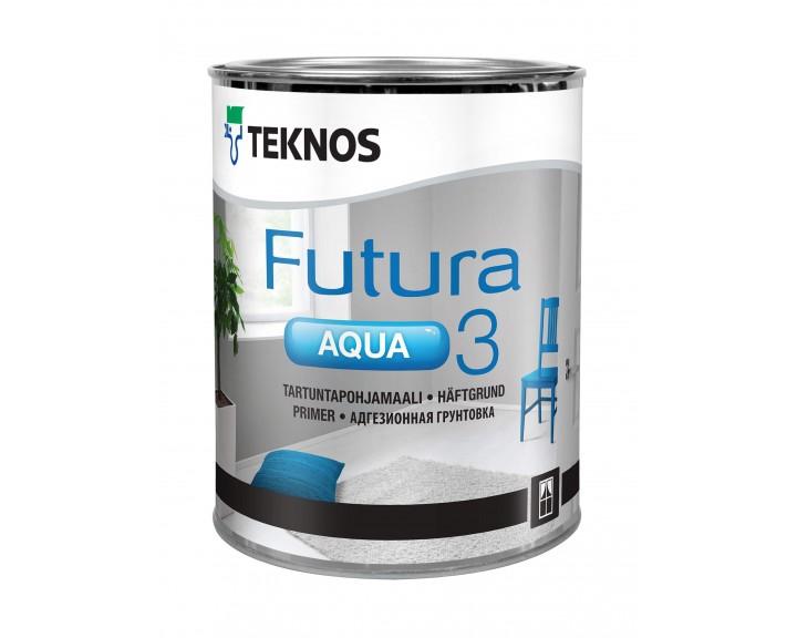 """Грунтуюча адгезійна фарба для дерев""""яних та оцинкованих виробів TEKNOS Futura Aqua 3"""