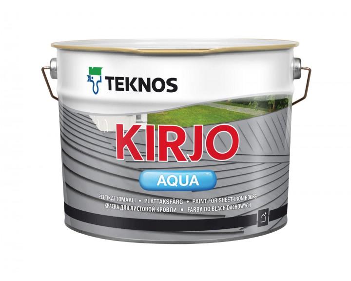 Водорозчинна акрилова фарба з антикорозійними пігментами  для листового металу TEKNOS Kirjo Aqua (База 1), 2.7 л