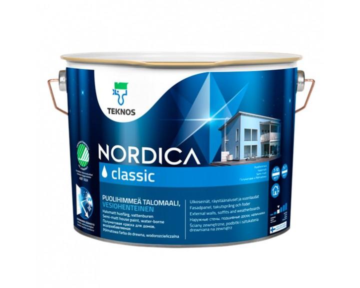 Фарба для дерев'яних будинків NORDICA CLASSIC База 1, 0.9 л