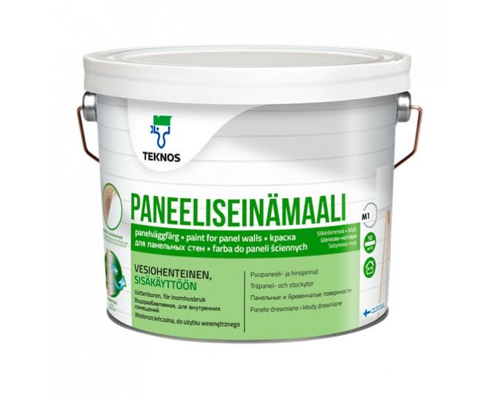 Фарба  для вагонки , біла PANEELISEINÄMAALI База 1, 2.7 л