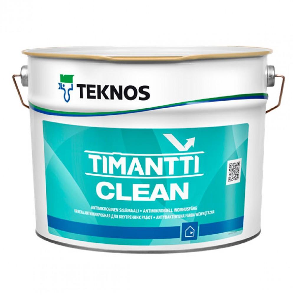Антимикробная акрилатная краска на основе ортофосфата серебра  TIMANTTI CLEAN База 1, 0.9 л