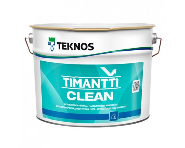 Антимікробна акрилатна фарба на основі ортофосфату срібла TIMANTTI CLEAN База 3, 2.7 л
