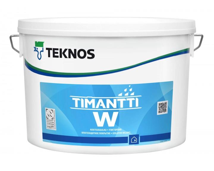 Вологоізолюючий грунт для стін та стелі у вологих приміщеннях TEKNOS TIMANTTI W