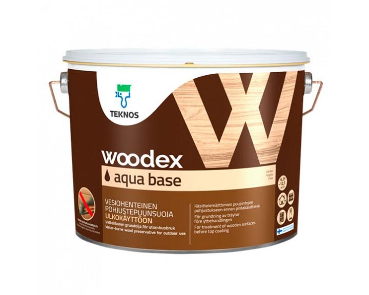 Грунтуючий  антисептик,  захищає деревину від плісняви, синеви, грибка для зовнішніх робіт TEKNOS Woodex Aqua Base, 10 л