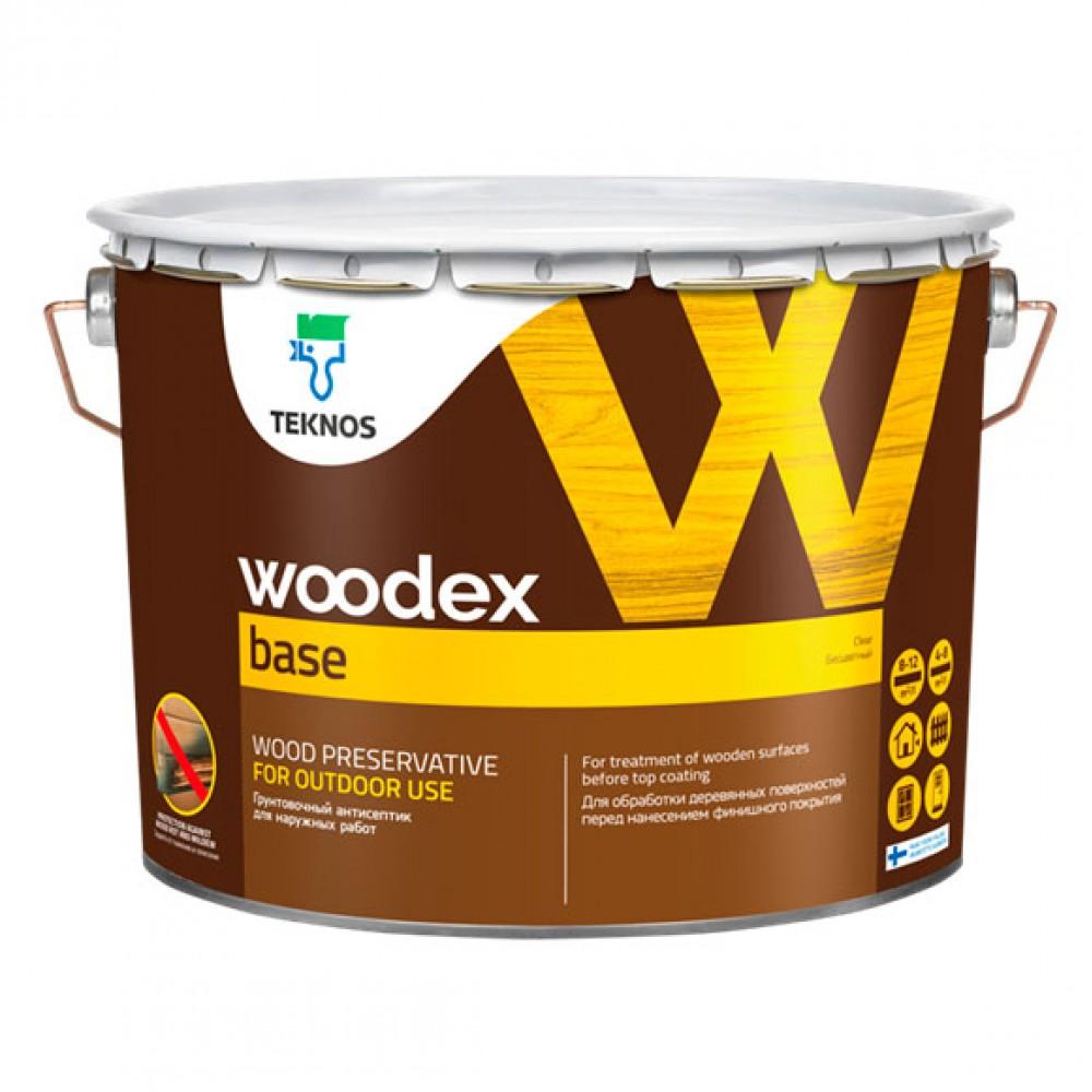 Антисептик для наружных  необработанных деревянных поверхностей TEKNOS Woodex Base, 1 л