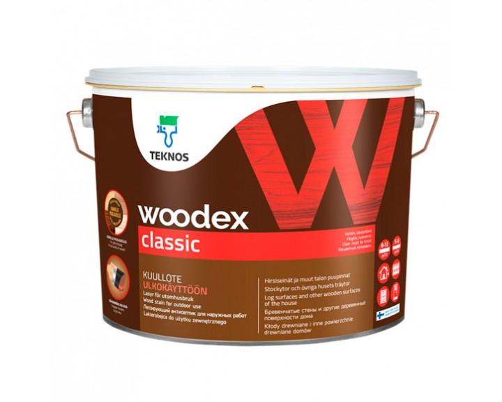 Тонкошаровий тиксотропний антисептик для альтанок, парканів, дерев'яного домобудівництва TEKNOS Woodex Classic, 9 л